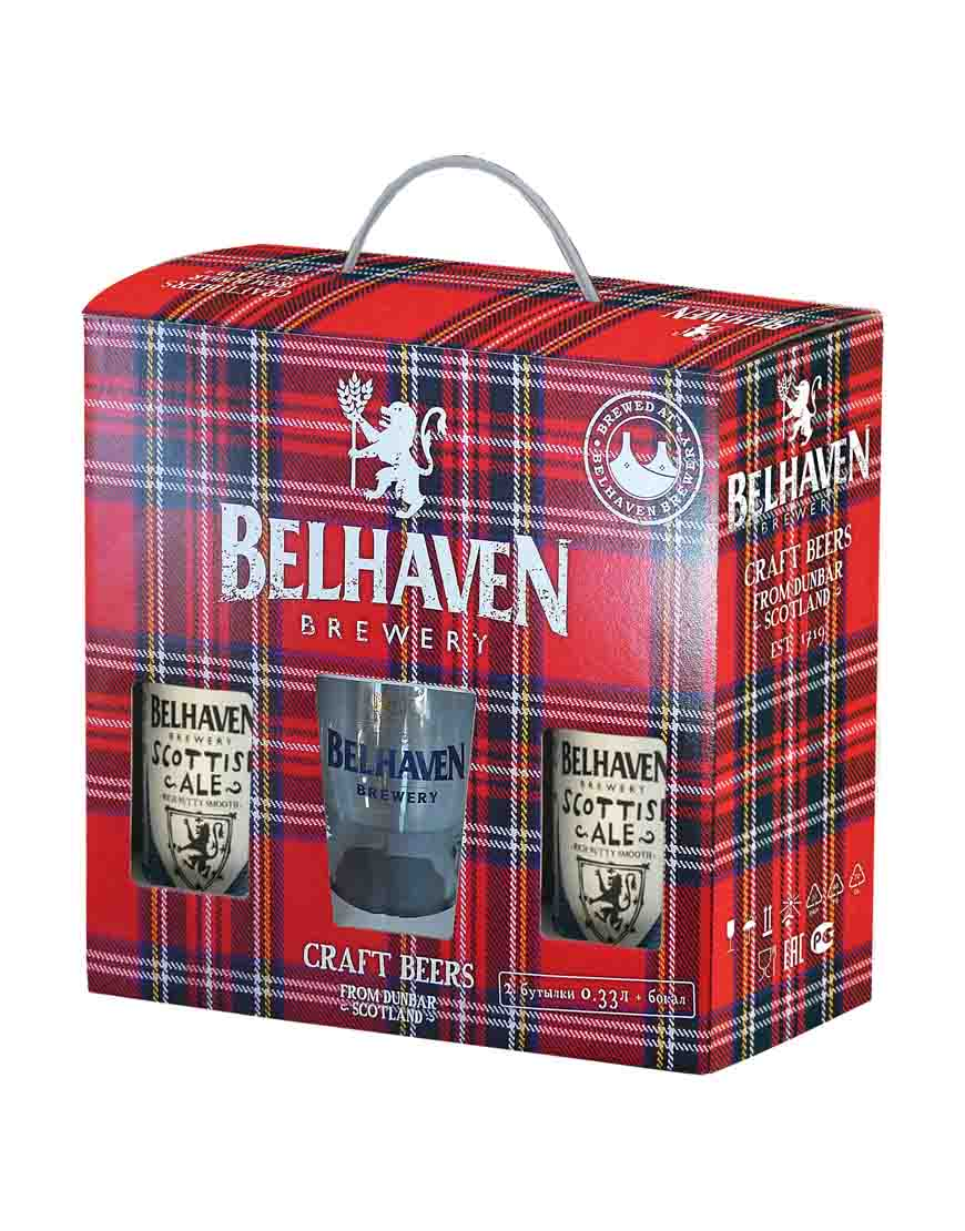 BELHAVEN SCOTTISH ALE 2 бут. 0,33 + Бокал